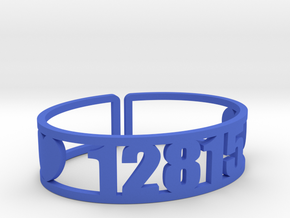 Point O'Pines Zip Cuff in Blue Strong & Flexible Polished