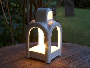 Square Dome - Outdoor in Gloss White Porcelain