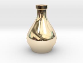 Decorative Design Jar in 14k Gold Plated Brass