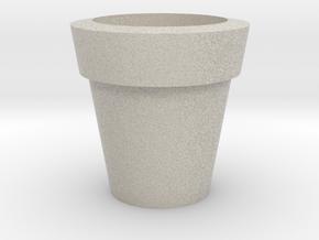 Design Plain Flower Pot in Natural Sandstone