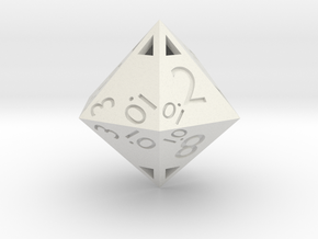 Sphericon-based d12: hollow in White Natural Versatile Plastic