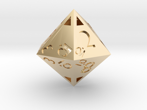 Sphericon-based d12: hollow in 14K Yellow Gold
