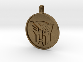Transformer Pendant in Natural Bronze