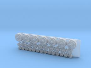 Spaceship engine parts 7+7+20 in Smooth Fine Detail Plastic