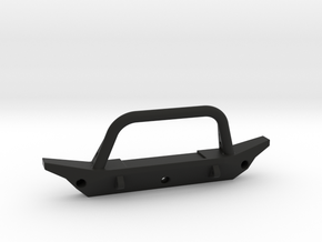1/10 Scale Jeep front bumper in Black Strong & Flexible