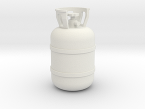 1/10 Scale propane tank in White Strong & Flexible