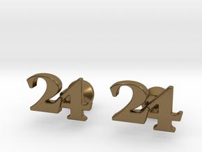 Monogram Cufflinks 24 in Polished Bronze