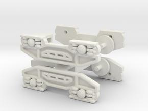 2 x N Gauge 1:148 Scale Bogeys for JUA Wagon in White Natural Versatile Plastic
