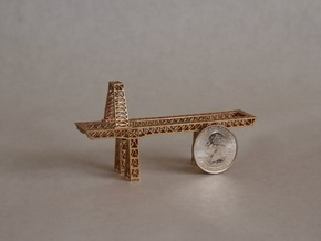 "3.5"" micro metal crane in Natural Bronze"