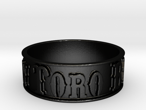 Mt. View Toro Band Ring (Size 7.5) in Matte Black Steel