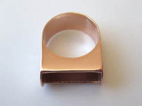 Box for Compact Pillbox Ring - size 10 in 14k Rose Gold Plated Brass