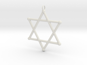Star Of David 2 in White Natural Versatile Plastic