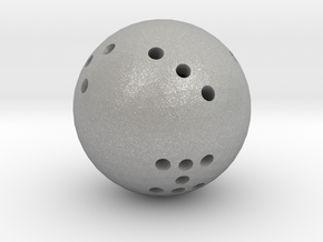 Round 8-sided die in Raw Aluminum
