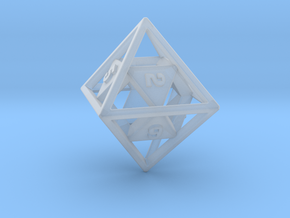 """""""Open"""" d8 - Eight-sided die in Smooth Fine Detail Plastic"""