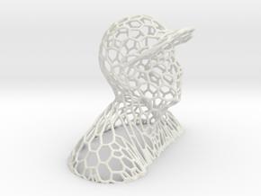 voronoi man in cap in White Natural Versatile Plastic