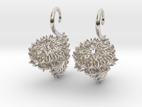 The Thistle Plugs / gauges/ 10g (2.5 mm) in Rhodium Plated Brass