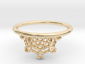 Half Lace Ring - Size 7.5 in 14K Yellow Gold: 7.5 / 55.5