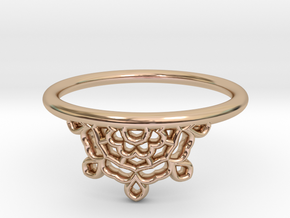 Half Lace Ring - Size 7.5 in 14k Rose Gold Plated Brass: 7.5 / 55.5