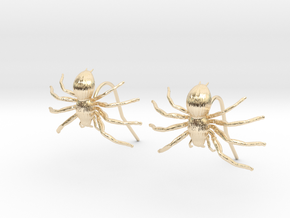 Spider Earring Two Pieces in 14k Gold Plated Brass
