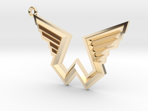 Wings Logo Keychain in 14k Gold Plated Brass