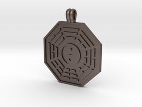Bagua Symbol in Polished Bronzed Silver Steel