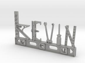 Kevin Nametag in Aluminum