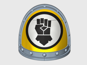 Kings Fist Legion - Gen2:Crusader Shoulder x10 in Frosted Ultra Detail
