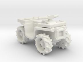 Quad ATV 1-87 HO Scale Style (Aggressive) 2.0 WSF in White Natural Versatile Plastic