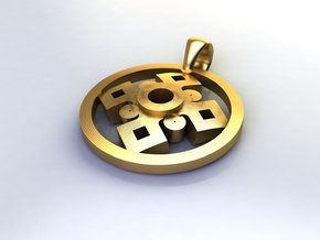 Pendant, Forces of Nature  in Polished Brass