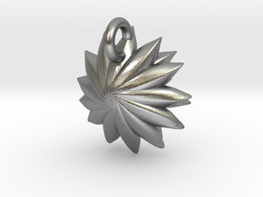 Spikey Succulent Pendant in Natural Silver