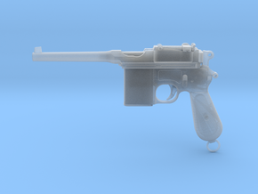 1/4 Scale Broomhandle Mauser in Frosted Ultra Detail