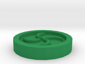 The Forest Medallion in Green Processed Versatile Plastic