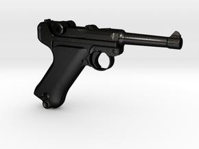 1/4 Scale Luger in Matte Black Steel