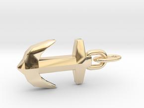 Precious Design Anchor Pendant in 14K Yellow Gold