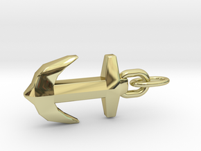 Precious Design Anchor Pendant in 18k Gold Plated Brass