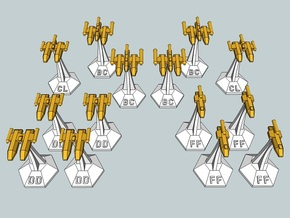 MicroFleet Leeran Fast Attack Group (14pcs) in Frosted Ultra Detail