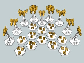 MicroFleet Leerans Carrier Group (21pcs) in Smooth Fine Detail Plastic