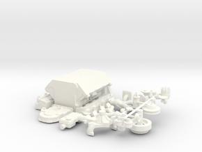 1/12 Ford 427 Side Oiler Basic Block Kit in White Strong & Flexible Polished