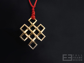 Endless Knot in 18k Gold Plated Brass