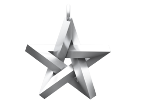 Impossible Star Pendant in Polished Silver