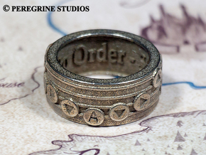 Ring - Oath to Order in Polished Bronzed Silver Steel: 13 / 69
