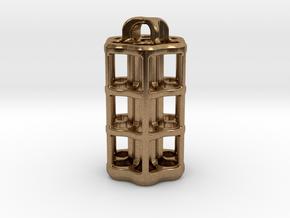 Tritium Lantern 5D (3.5x25mm Vials) in Natural Brass