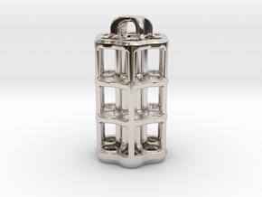 Tritium Lantern 5D (3.5x25mm Vials) in Rhodium Plated Brass