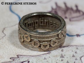Ring - Elegy of Emptiness in Polished Bronzed Silver Steel: 13 / 69