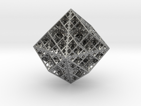 Koch Rhombododecahedron in Natural Silver