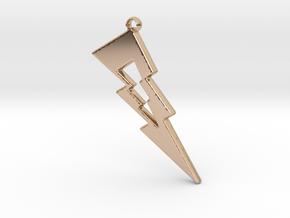 Thunder Pendant in 14k Rose Gold Plated Brass