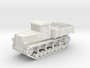 Komintern Tractor (20mm) in White Natural Versatile Plastic