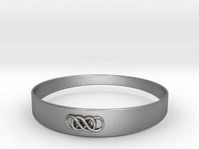 Double Infinity Bracelet ver.1 51mm inside in Natural Silver
