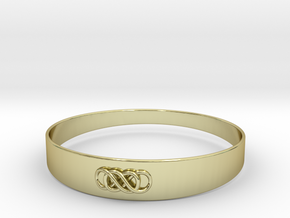 Double Infinity Bracelet ver.1 51mm inside in 18k Gold Plated Brass