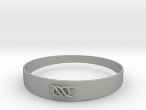 Double Infinity Bracelet ver.1 51mm inside in Aluminum